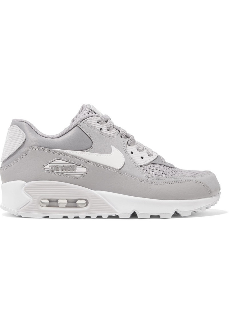 pretty nice cb9c8 95b71 Air Max 90 Se Stretch-knit, Suede, Leather And Mesh Sneakers