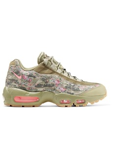Nike Air Max 95 Printed Leather And Mesh Sneakers
