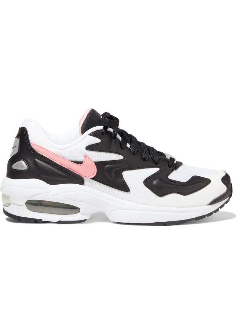 Nike Air Max2 Light Mesh, Faux Leather And Suede Sneakers