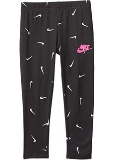 Nike All Over Swoosh Soft Leggings (Toddler/Little Kids)