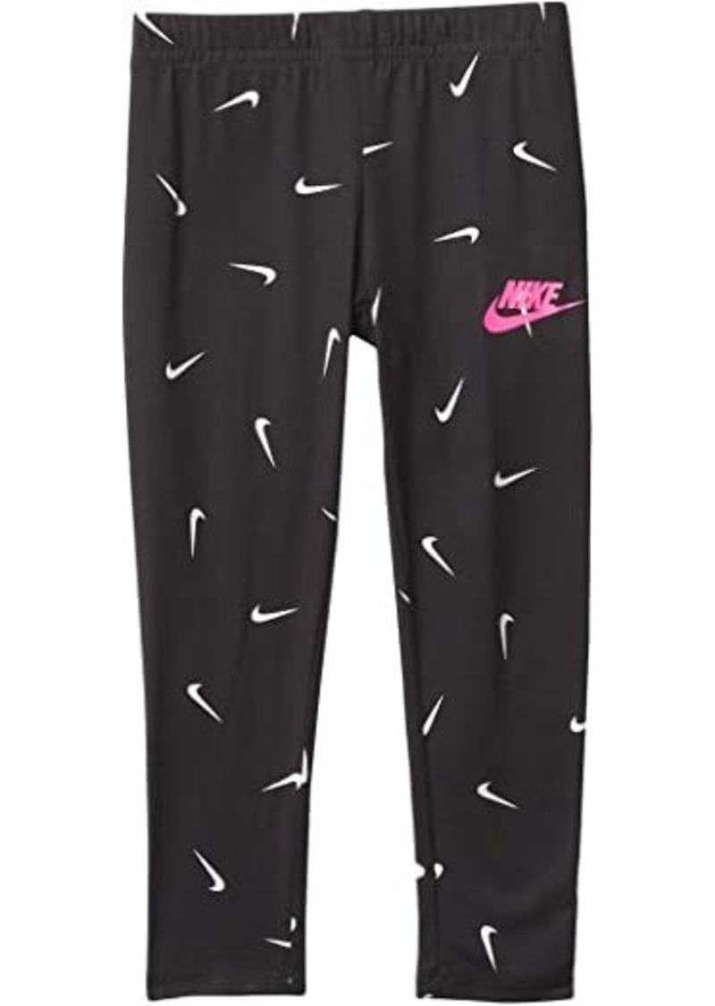 Nike All Over Swoosh Soft Leggings (Toddler/Little Kids)