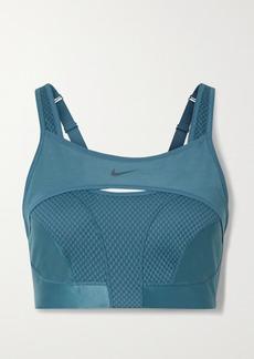 Nike Alpha Ultrabreathe Cutout Mesh-paneled Sports Bra