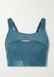 Nike Alpha Ultrabreathe Cutout Mesh-paneled Sports Bra