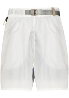 Nike belted-waist wide-leg shorts