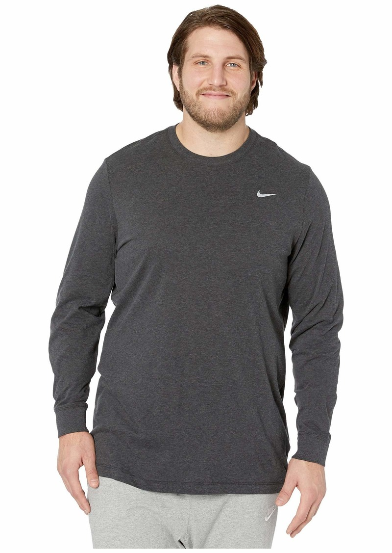 Nike Big & Tall Dry Tee Dri-FIT™ Cotton Long Sleeve Solid