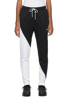 Nike Black & White Asymmetric Colorblocked Lounge Pants