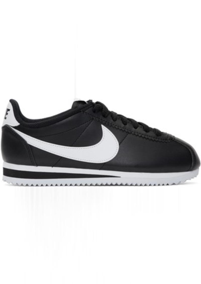 sale retailer d82d2 223c5 Black & White Classic Cortez Sneakers