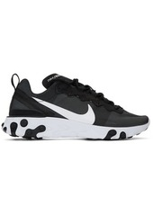 Nike Black & White React Element 55 Sneakers