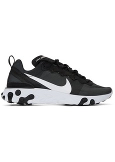 Nike Black & White React Element 55 Sneakers