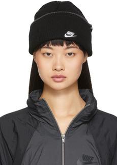 Nike Black Embroidered Logo Futura Beanie