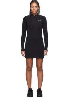 Nike Black Half-Zip Long Sleeve Dress