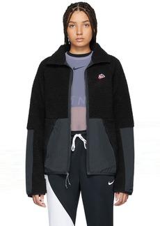 Nike Black Sherpa Fleece Jacket
