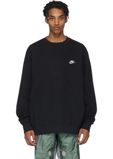 Nike Black Sportswear Club Sweatshirt