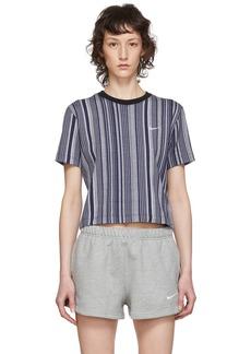 Nike Blue & White Striped Essential T-Shirt