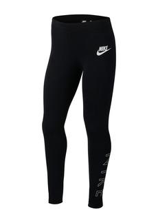 Nike Brand Logo Leggings (Big Girls)