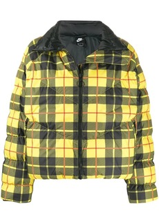 Nike checked padded jacket