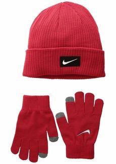 Nike Chrome Swoosh Beanie Gloves Set (Big Kids)