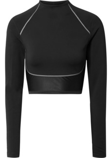Nike City Ready Cropped Paneled Neoprene And Stretch Top