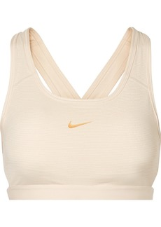 Nike Classic Cutout Metallic Striped Dri-fit Stretch Sports Bra