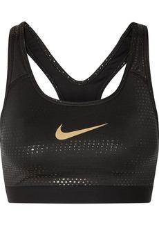 Nike Classic Swoosh Metallic Dri-fit Stretch Sports Bra