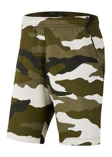 Nike Club Fleece Camo Print Shorts