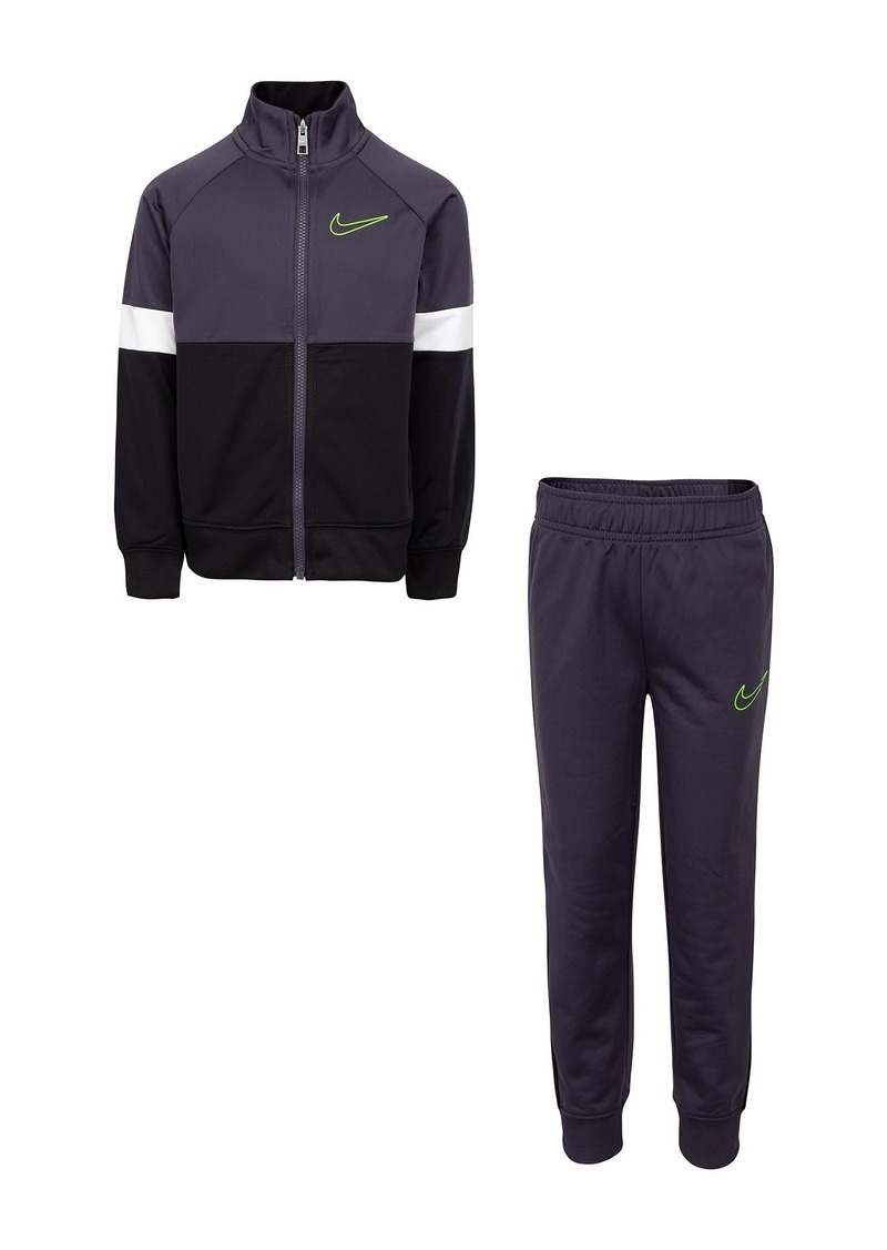 Nike Color Block Tricot Jacket & Pant Set (Toddler Boys)