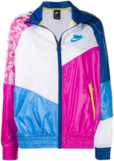 Nike colour-block bomber jacket