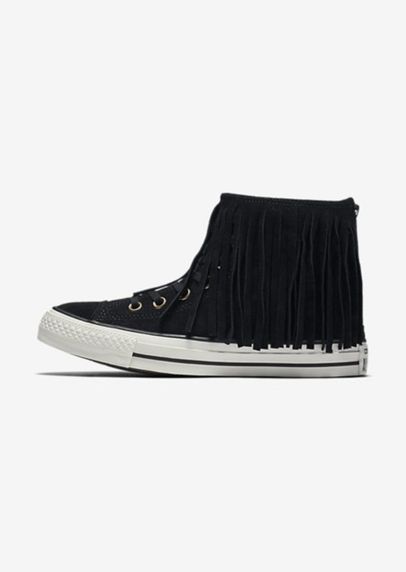 Converse Chuck Taylor All Star Fringe Suede and Faux Shearling High Top