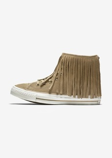 Nike Converse Chuck Taylor All Star Fringe Suede and Faux Shearling High Top