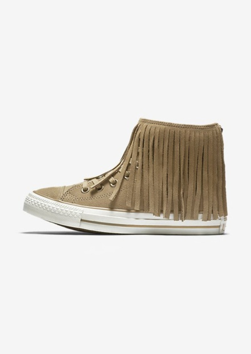 635b156d95aa Nike Converse Chuck Taylor All Star Fringe Suede and Faux Shearling High Top