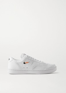 Nike Court Vintage Embroidered Textured-leather Sneakers