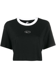 Nike cropped swoosh logo T-shirt