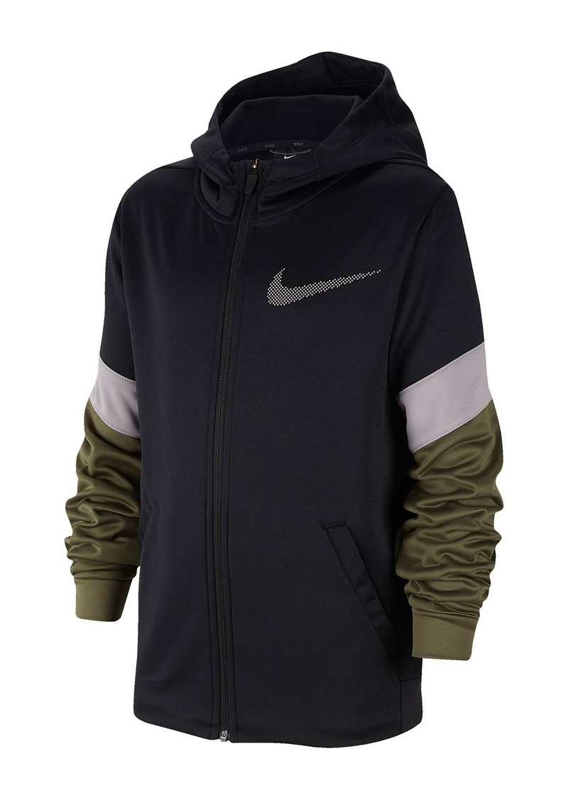 Nike Dominate Dri-FIT Therma Full-Zip Hoodie (Big Boys)