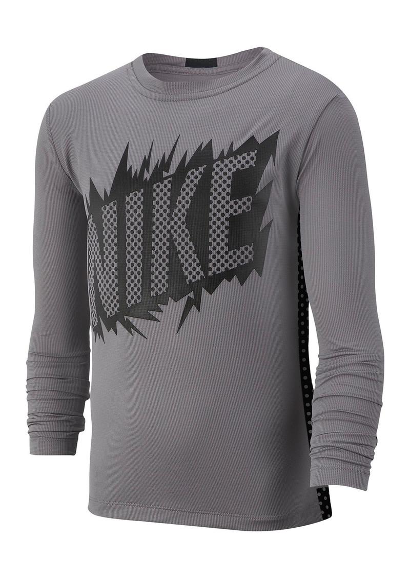 Nike Dominate Long Sleeve T-Shirt (Big Boys)
