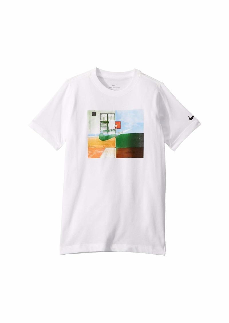 Nike Dri-Fit Hoop Mash-Up T-Shirt (Little Kids/Big Kids)