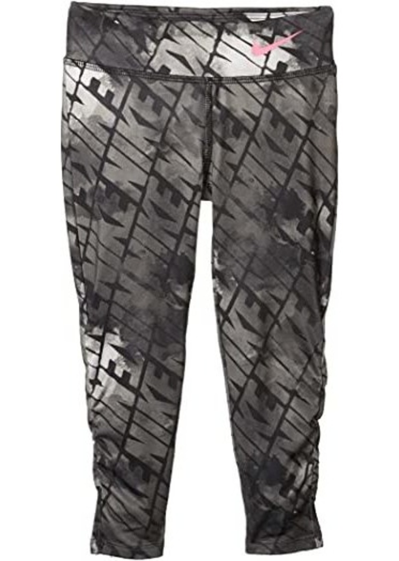 Nike Dri-FIT Ruched Graphic Leggings (Little Kids)
