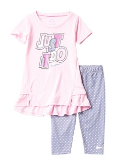 Nike DRI-Fit Tunic & Capri Set (Toddler Girls)