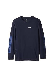 Nike Dry Elite Long Sleeve Basketball T-Shirt (Little Kids/Big Kids)