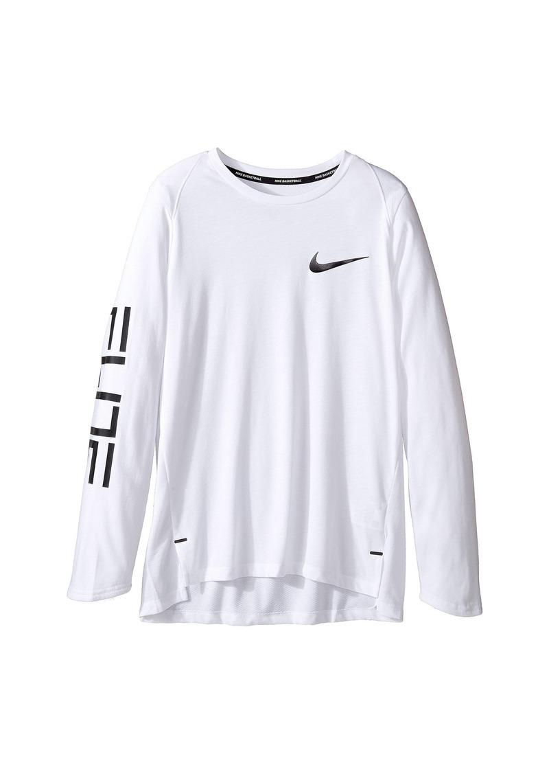 fb86c34a58 Nike Dry Elite Long Sleeve Basketball Top (Little Kids/Big Kids ...