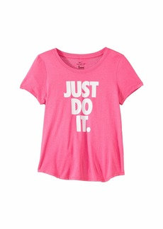 Nike Dry Just Do It Scoop Tee (Little Kids/Big Kids)