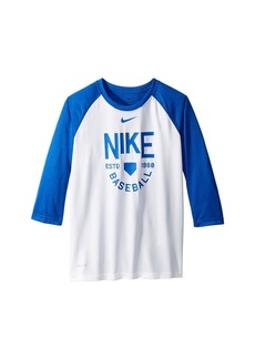 Nike Dry Legend 3/4 Sleeve Training Tee (Little Kids/Big Kids)