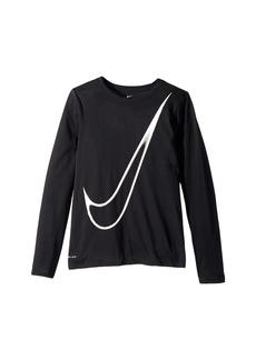 Nike Dry Long Sleeve Training T-Shirt (Little Kids/Big Kids)