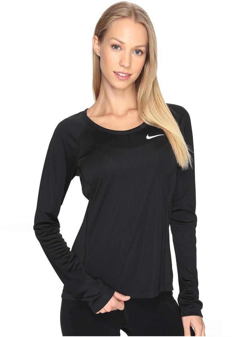 Nike Dry Miler Long Sleeve Running Top  48345875c