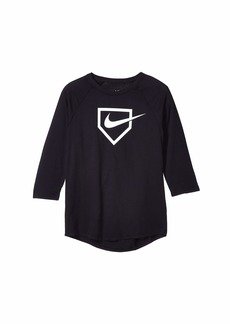 Nike Dry Swoosh Home Plate Tee (Little Kids/Big Kids)