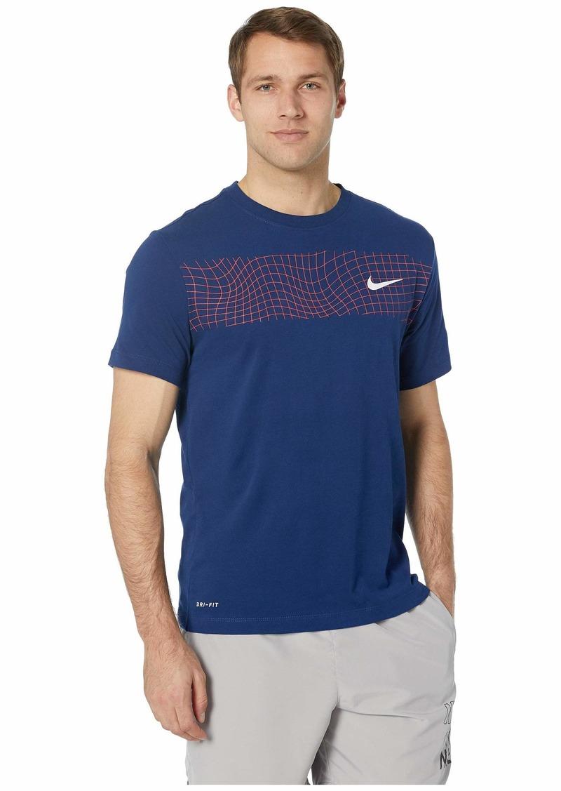 836bcdc92b91 Nike Dry Tee Dri-FIT™ Cotton Grid Bar