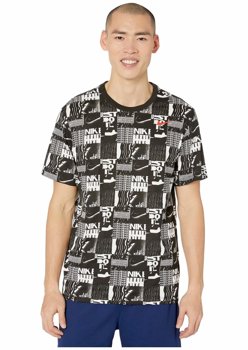 Nike Dry Tee Dri-FIT Cotton Seasonal All Over Print