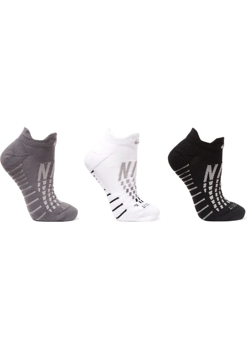 Nike Everyday Max Cushion Set Of Three Dri-fit Stretch-knit Socks