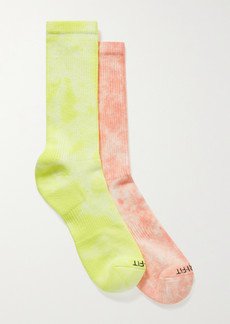 Nike Everyday Plus Set Of Two Tie-dyed Dri-fit Cotton-blend Socks