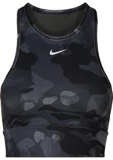 Nike Everything Mesh-paneled Camouflage-print Dri-fit Sports Bra