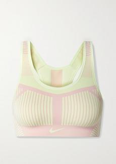 Nike Fe/nom Striped Flyknit Sports Bra